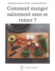 """Cliquez sur la couverture du guide """"Comment manger sainement sans se ruiner"""""""