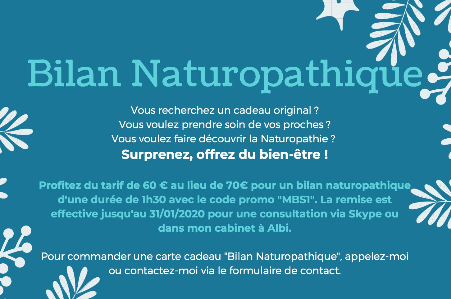 Offrez un bilan naturopathique